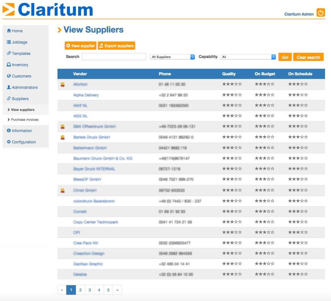 Solution to Tail Spend Claritum