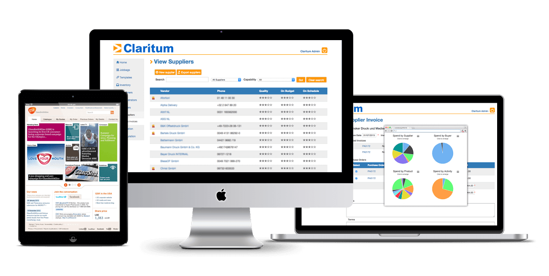 Claritum multi device eProcurement