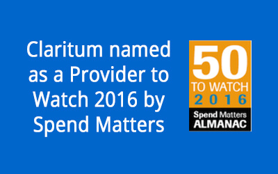 Spend Matters 50 to Watch 2016